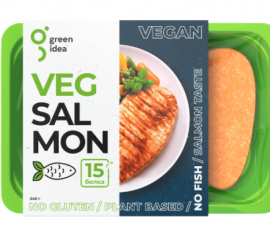 Филе растительное со вкусом лосося Green Idea 300г
